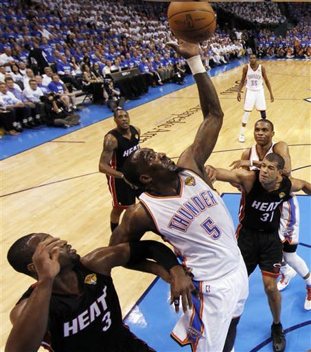 Heat survive Thunder rally for 100-96 win