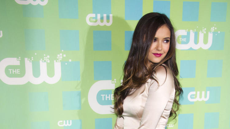 Nina Dobrev attends The CW Television Network's Upfront 2012 in New York, Thursday, May 17, 2012. (AP Photo/Charles Sykes)
