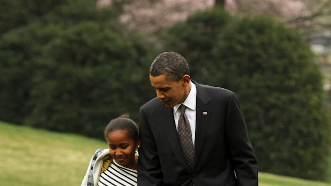 President Obama And Family Arrive Back From Trip To Latin America