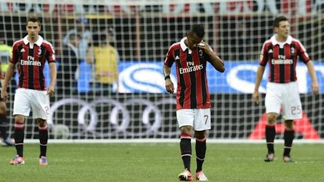 AC Milan react after conceding against Sampdoria