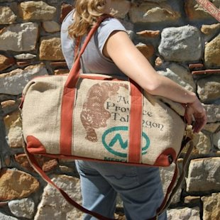 Burlap Travel Bag