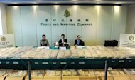 Hong Kong customs officers said Friday they had made the city's largest ever cocaine bust, after finding almost 650 kilograms of the drug -- with a street value of about $98 million -- in a shipping container
