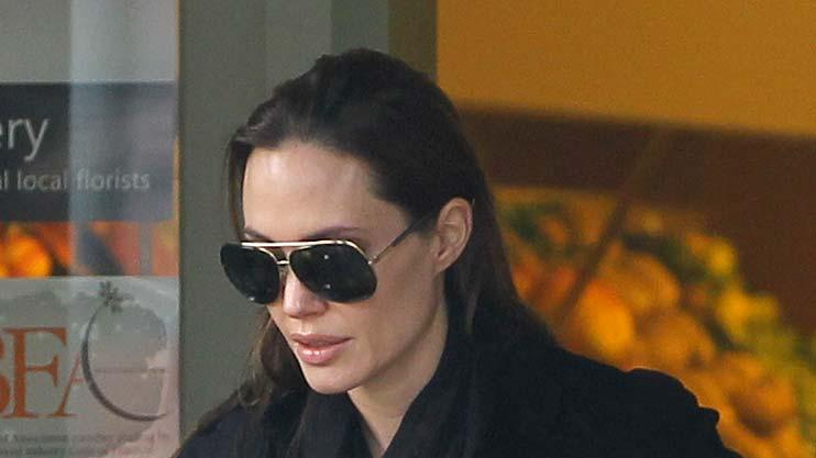 Angelina Jolie Buys Flowers