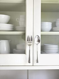 fork and spoon door pulls