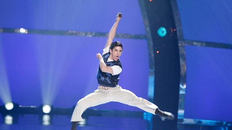 "Contestant Jess LeProtto performs a solo routine to ""Come By Me""  on ""So You Think You Can Dance."""