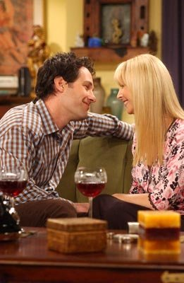 Paul Rudd and Lisa Kudrow in NBC's Friends