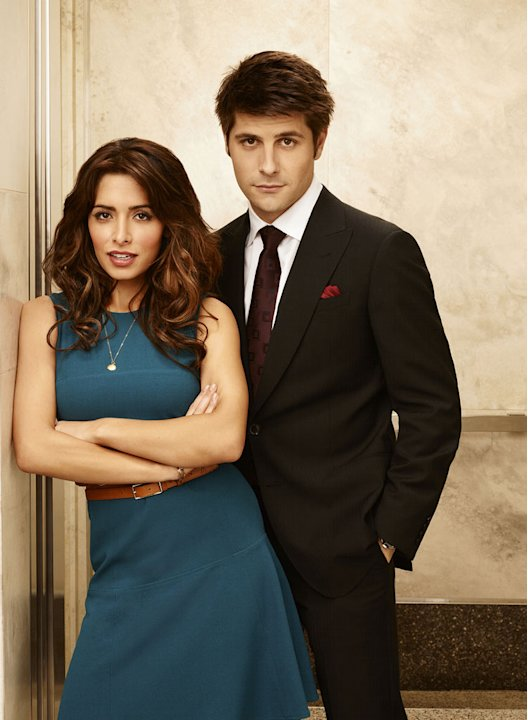 Sarah Shahi as Kate Reed and Ryan Johnson as Ben Grogan in &quot;Fairly Legal.&quot; 