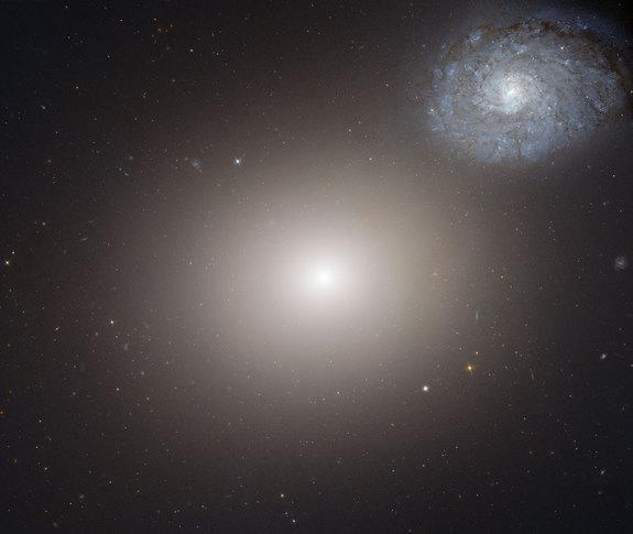 Hubble Telescope Sees Two Galaxies in Cosmic Dance
