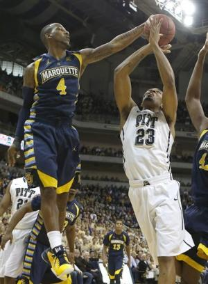 Marquette holds off Pittsburgh 74-67 in OT