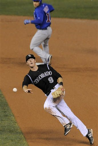 LeMahieu has 3 hits as Rockies top Cubs, 10-5