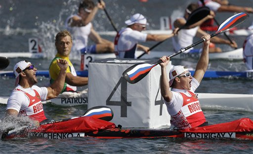 APTOPIX London Olympics Canoe Sprint Men