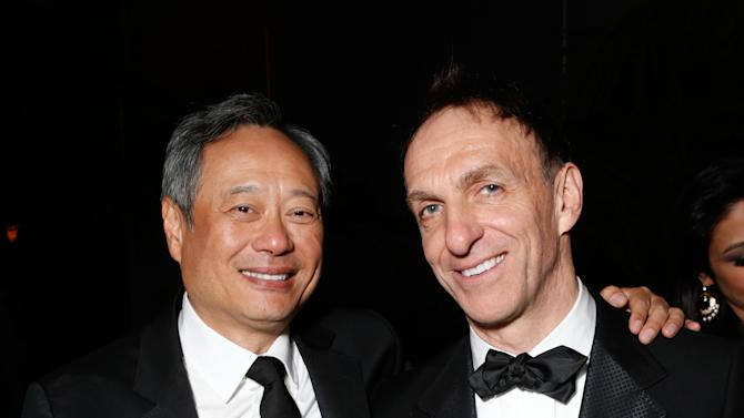 Director Ang Lee, left, and composer Mychael Danna attend the Fox Golden Globes Party on Sunday, January 13, 2013, in Beverly Hills, Calif. (Photo by Todd Williamson/Invision for Fox Searchlight/AP Images)