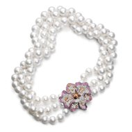 tiffany pearl and pink sapphire necklace