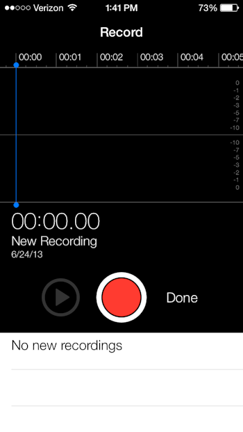 apple ios 7 voice memos new app design