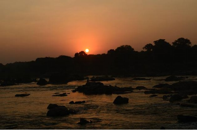 Sunset on the Betwa RIver