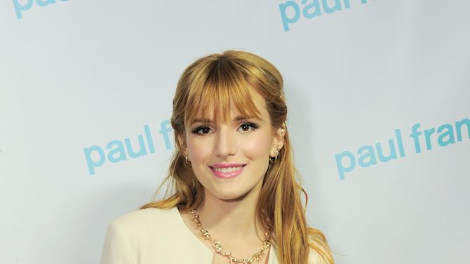 """IMAGE DISTRIBUTED FOR SABAN BRANDS - Bella Thorne arrives at the Paul Frank """"Let's Have a Fun Day"""" event, on Monday, April, 8th, 2013 in Los Angeles. (Photo by Jordan Strauss/Invision for Saban Brands/AP Images)"""