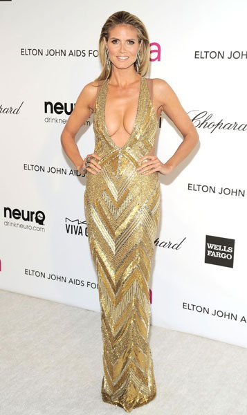 Worst dressed: Heidi Klum The supermodel Julien Macdonald Elton John AIDS Foundation Party Image  Rex
