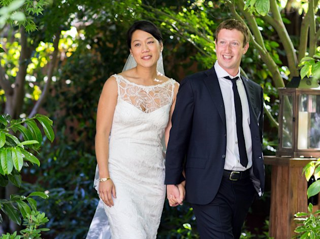 Zuckerberg and Bride
