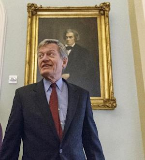 Senate Finance Committee Chairman Max Baucus, D-Mont., walks to a Democratic Caucus lunch at the Capitol in Washington, Thursday, Dec. 19, 2013. Baucus, who announced earlier this year that he would not seek re-election, is President Barack Obama's choice to be the next U.S. ambassador to China. (AP Photo/J. Scott Applewhite)