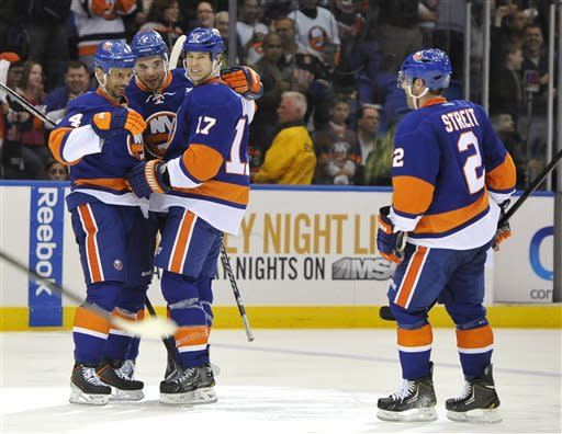 Grabner scores 2 in Islanders' win over Panthers