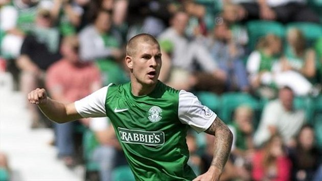 James Collins has scored twice for Hibernian