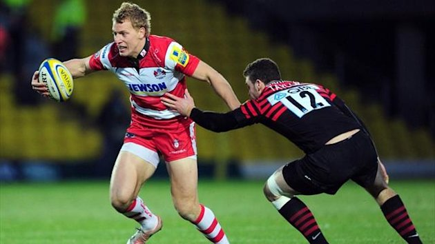 Gloucester's Billy Twelvetrees gets away from Saracen's Duncan Taylor