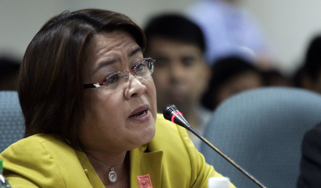 Justice Secretary Leila De Lima is seen in this file photo by NPPA Images.