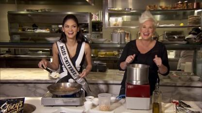 Miss Universe Whips Up Some Super Bowl Treats: 'Who Says Beauty Queens Can't Eat?'
