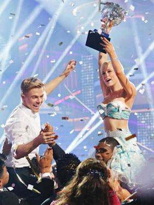 Kellie Pickler and Derek Hough seen after winning 'Dancing With The Stars' Season 16 on May 22, 2013 -- ABC