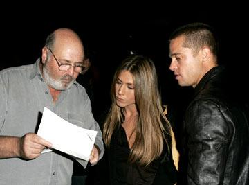 Premiere: Rob Reiner, Jennifer Aniston and Brad Pitt at the Los Angeles special screening of ThinkFilm's Going Upriver: The Long War of John Kerry - 10/13/04