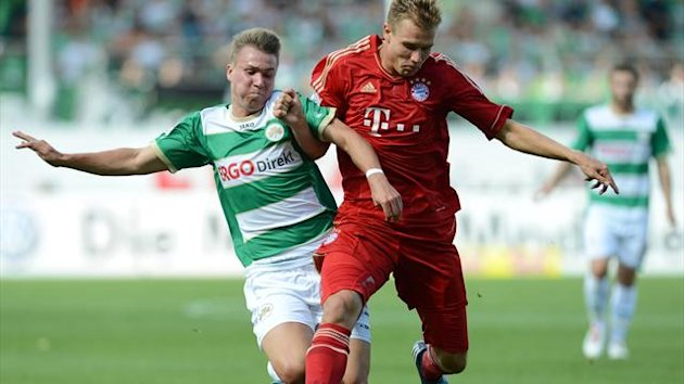FOOTBALL - 2012/2013 - Greuther Furth-Bayern - Badstuber