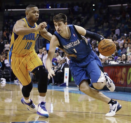 Vasquez's double-double leads Hornets past Wolves