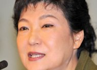 "South Korea's presidential candidate of the ruling New Frontier Party, Park Geun-Hye, speaks at a press conference in Seoul. Park warned Thursday of a ""critically transformative"" period ahead for the Korean peninsula and Northeast Asia, marked by political flux and potential instability"