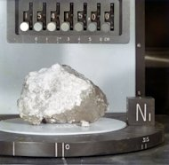 The chemical traces of water have been found in this moon rock, called the Genesis Rock. The moon rock was collected by astronauts during the Apollo 15 mission in 1971 and is thought to be a piece of the moon's primordial crust.