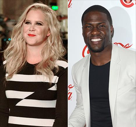 """Amy Schumer Tweets """"Hostile"""" Text From Kevin Hart Before Hosting SNL"""