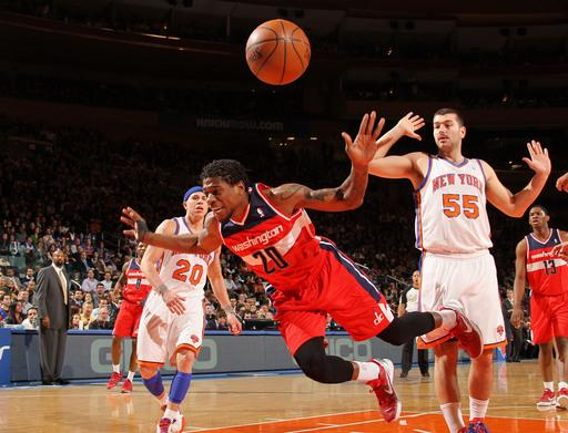 Knicks crush Wizards 103-65, tie for 7th