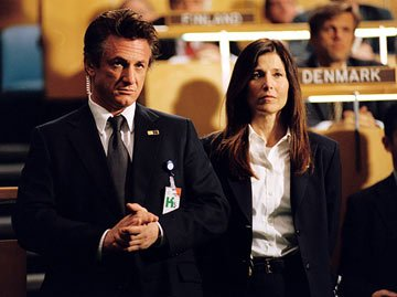 Sean Penn and Catherine Keener in Universal Pictures' The Interpreter