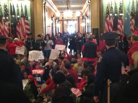 Michigan Protests: Teachers Remain Dedicated Despite Cuts (Photos)