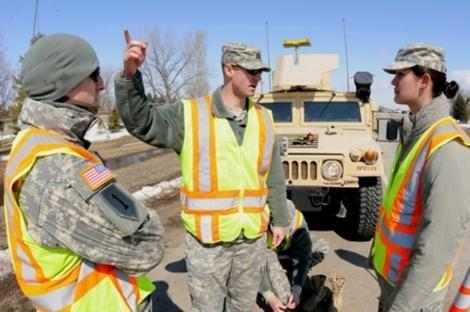 Spring Flooding Calls for Military Assistance