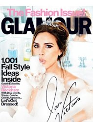 Victoria Beckham on the cover of Glamour's September 2012 issue