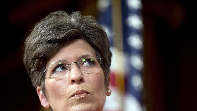 In this July 29, 2015, photo, Sen. Joni Ernst, R-Iowa, listens during a news conference on Capitol Hill in Washington to discuss Planned Parenthood. Republicans will likely lose the Aug. 3 Senate showdown over halting federal aid to Planned Parenthood. Yet the political offensive by abortion foes has just started, prompted by a batch of unsettling videos that has focused attention on the group's little-noticed practice of providing fetal tissue to researchers. (AP Photo/Manuel Balce Ceneta)