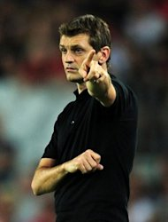 Most of the question marks at the start of the season were over how Barca would be able to overturn Madrid with their new coach Tito Vilanova (pictured on August 23), and with Messi leading the way they have made a storming start with four straight wins in the league and now play Granada at the Camp Nou, on Saturday