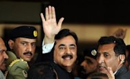 Pakistan's Prime Minister Yousuf Raza Gilani, pictured in April 2012, has been disqualified from holding office by the country's top court. Pakistani President Asif Ali Zardari hoped Wednesday to nominate a new prime minister following a night of crisis talks after the Supreme Court disqualified Gilani for contempt