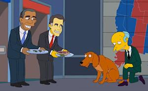 The Simpsons' Montgomery Burns Endorses Mitt Romney!