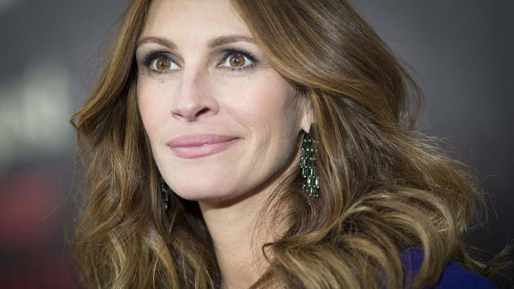 "Actress Julia Roberts arrives for the premiere of her movie ""August: Osage County"" in New York"
