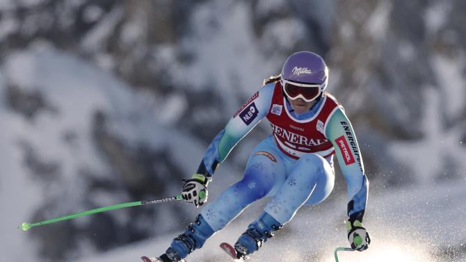Slovenia's Maze skis during the women's World Cup Super G skiing race in Val d'Isere
