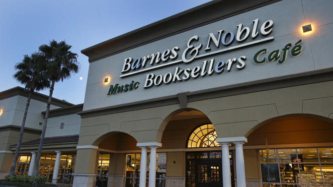 FILE - In this Sunday, Aug. 18, 2013, file photo, a Barnes & Noble bookstore is photographed in Orlando, Fla. On Tuesday, Nov. 26, 2013, Barnes & Noble releases quarterly financial results. (AP Photo/John Raoux, File)