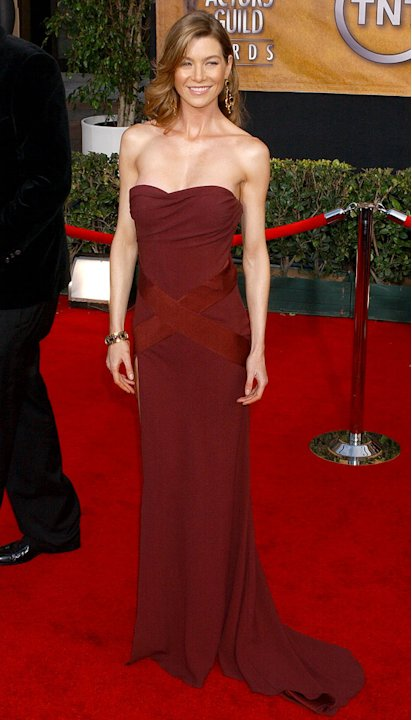 Ellen Pompeo at the 12th Annual Screen Actors Guild Awards.