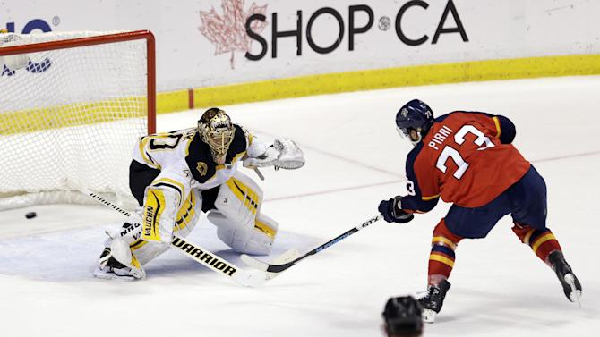 Pirri leads Panthers past Bruins 2-1 in shootout