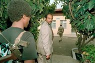 <p>Meles Zenawi, the then-leader of the Ethiopian People's Revolutionary Democratic Front (EPRDF), arrives in Addis Ababa after his group seized the capital in 1991. African leaders on Tuesday mourned the death of Ethiopian Prime Minister Meles Zenawi after the strongman's more than two decades in power.</p>